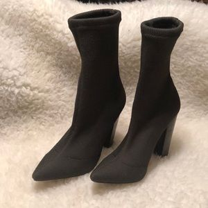 Steve Madden Siena Stretch Pointed Toe Sock Boot